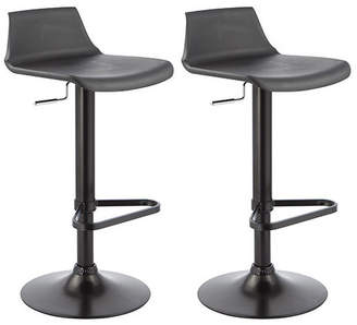 Webster Temple & Set of 2 Adjustable Manhattan Swivel Bar Stools