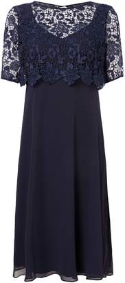 Ariella Lace Overlay Peyton Dress