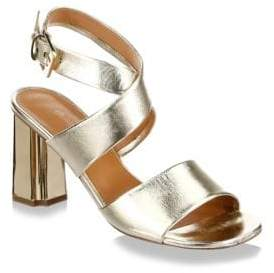 Clergerie Zora Leather Ankle Strap Sandals