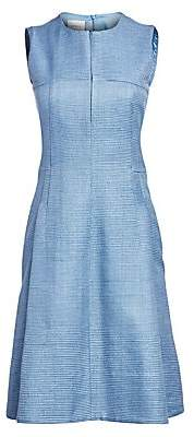 Akris Punto Women's Sleeveless Raw Silk Sheath Dress