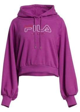 Fila Runway Milano Billow Sleeve Logo Hoodie