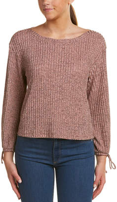 Ella Moss Blouse Sleeve Ribbed Sweatshirt