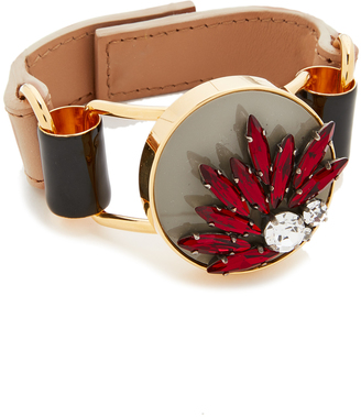 Marni Leather Bracelet $555 thestylecure.com