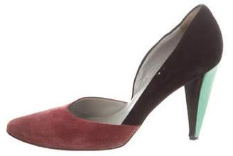Miu Miu Suede Colorblock Pumps