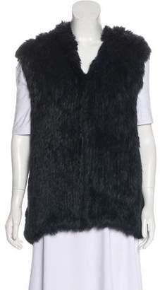 Barneys New York Barney's New York Hooded Fur Vest