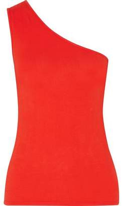 Enza Costa One-Shoulder Stretch-Cotton Jersey Top