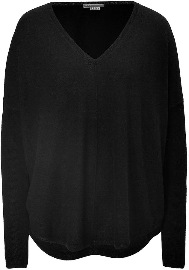 Vince Cashmere Oversized V-Neck Pullover