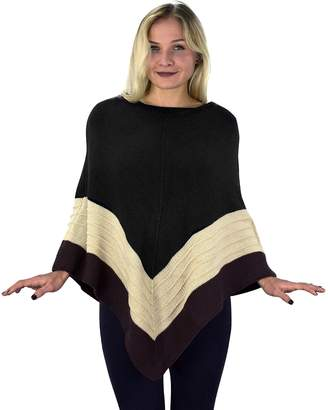 Couture Peach Women's Light Trendy Ruffle Batwing with Fringe Shawl Wrap Poncho