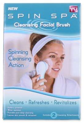 Spin Spa Face Brush in White $12.99 thestylecure.com