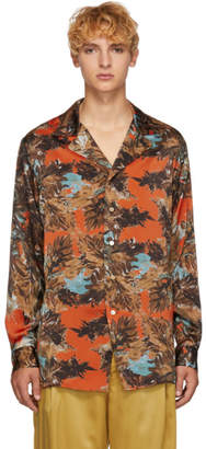 BED J.W. FORD Orange and Green Gara Shirt