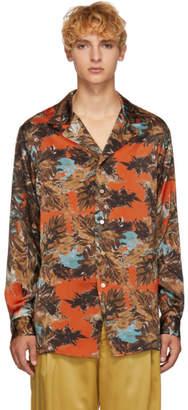 BED J.W. FORD Orange and Green Gara Shirt