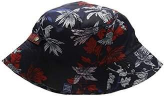 Joules Women's Rainyday Bucket Hat, (Black Chic Dogs)