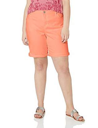 Gloria Vanderbilt Women's Plus Size City Short with Rolled Cuff