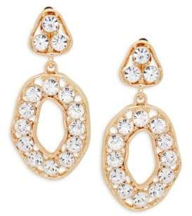 Kenneth Jay Lane Crystal Triangle Top Drop Earrings