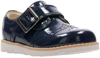 3fc667030d3 Clarks Crown Pride Girls First Shoes - Navy Patent