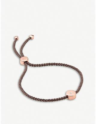 Monica Vinader Linear Solo 18ct rose-gold vermeil and diamond friendship bracelet