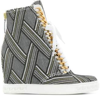 Casadei optial patterned hi-top sneakers