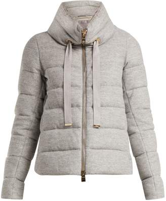 Herno Funnel-neck quilted jacket