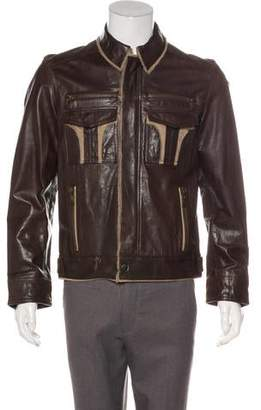 Dolce & Gabbana Leather Zip Jacket
