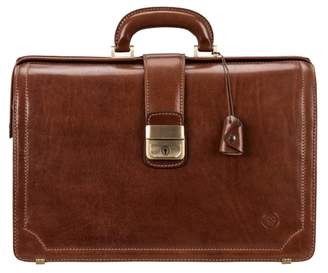 Maxwell Scott Bags Smart Real Leather Tan Executive Briefcase For Men
