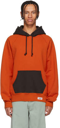 Wacko Maria Orange and Grey Washed Heavy Weight Hoodie