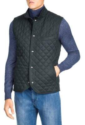 Isaia Quilted Cashmere Vest