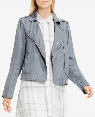 TWO By Vince Camuto Linen Moto Jacket $139 thestylecure.com