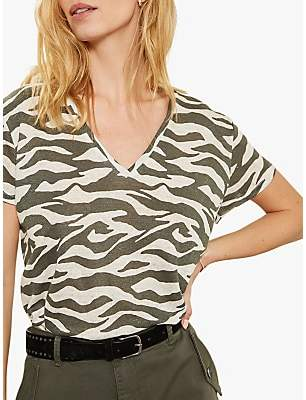12c6ed27c55 Mint Velvet Linen Zebra Print T-Shirt