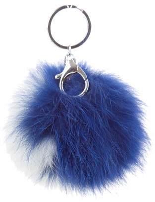 Adrienne Landau Fur Pom-Pom Keychain
