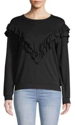 Tiered Ruffled Sweatshirt