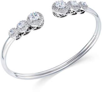 Arabella Swarovski Zirconia Bangle Bracelet in Sterling Silver