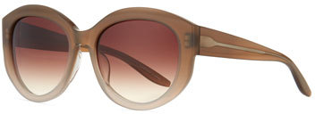 Barton PerreiraBarton Perreira Patchett Universal-Fit Butterfly Sunglasses, Sandstone/Smoky Topaz