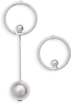 Canvas Jewelry Circle & Bead Mismatch Earrings