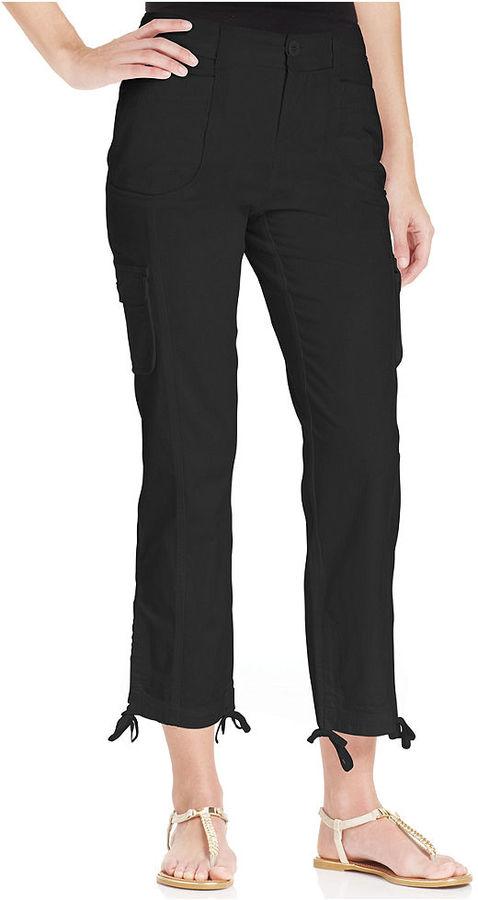 Style&Co. Tummy-Control Cargo Capri Pants