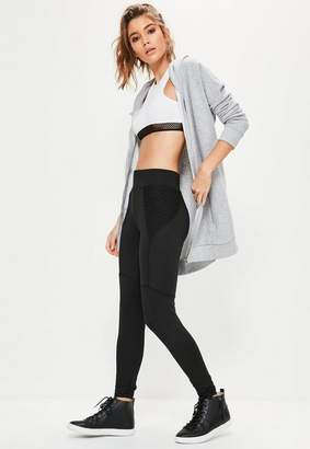 Missguided Active Black Fishnet Side Sports Leggings