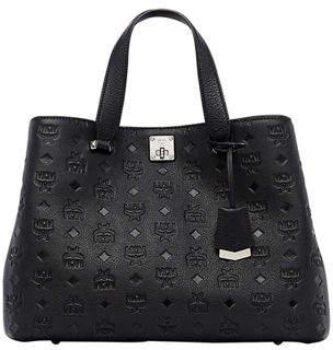 MCM Klara Monogrammed Satchel Bag