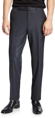 Ermenegildo Zegna Men's Wool-Silk Flannel Trousers