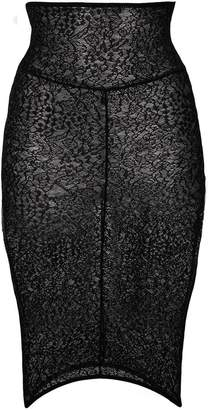 Alexandre Vauthier lace fitted mini skirt