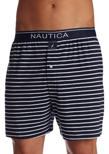 Nautica Men's Knit Yarn Dyed Dunner Yard Stripe Boxer