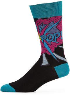 Bugatchi Men's Pop Cotton-Blend Socks