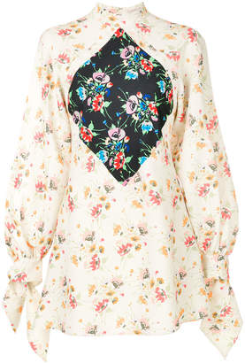 Christopher Kane archive floral mini dress