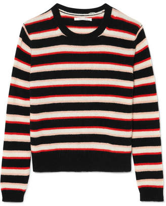 Chinti and Parker Jalisco Striped Cashmere Sweater - Black