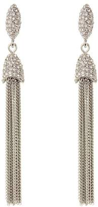 Vince Camuto CZ Chain Tassel Earrings