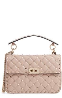 Valentino Medium Rockstud Matelasse Quilted Leather Crossbody Bag