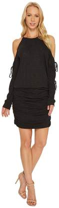Lanston Tie Long Sleeve Mini Dress Women's Dress