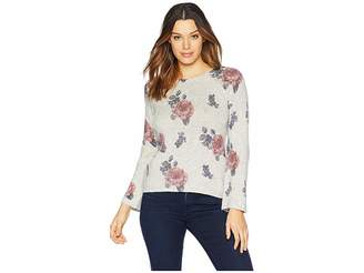 Lucky Brand Floral Pullover Sweater