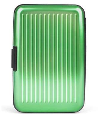 PureAid Portable Aluminum Credit Card Wallet RFID Blocking Case - Green