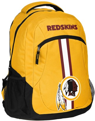 Redskins Forever Collectibles Washington Action Stripe Backpack