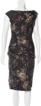 Vera Wang Jacquard Floral Pattern Skirt Set $115 thestylecure.com