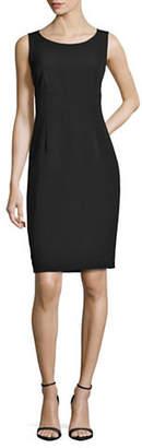Kasper SUITS Solid Empire Sheath Dress